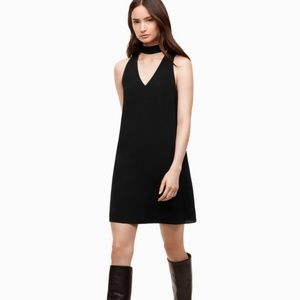 Aritzia Wilfred Éthére choker dress in black XXS